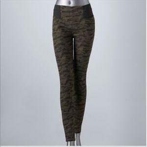Camo leggings Jeggings Camouflage Vera Wang Jeans